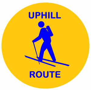 uphill route sign