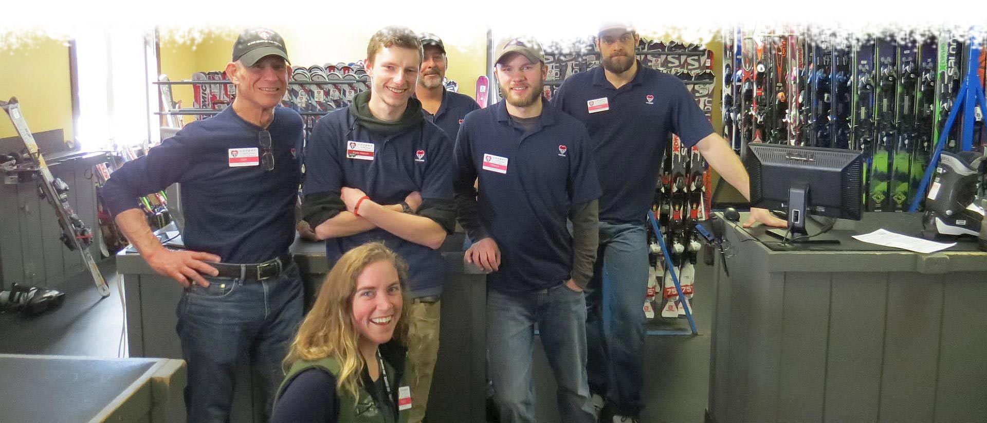 cooper rental shop staff posing