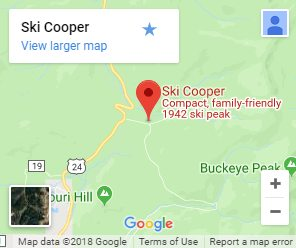map showing location of COoper