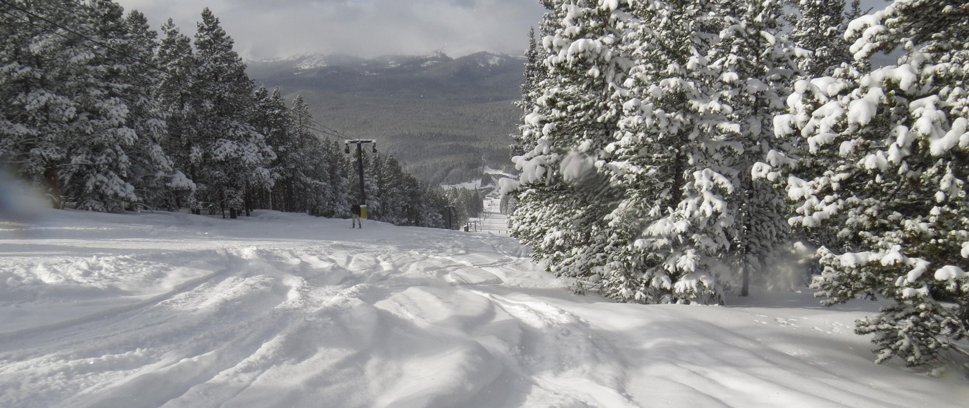 Deep powder on the slopes