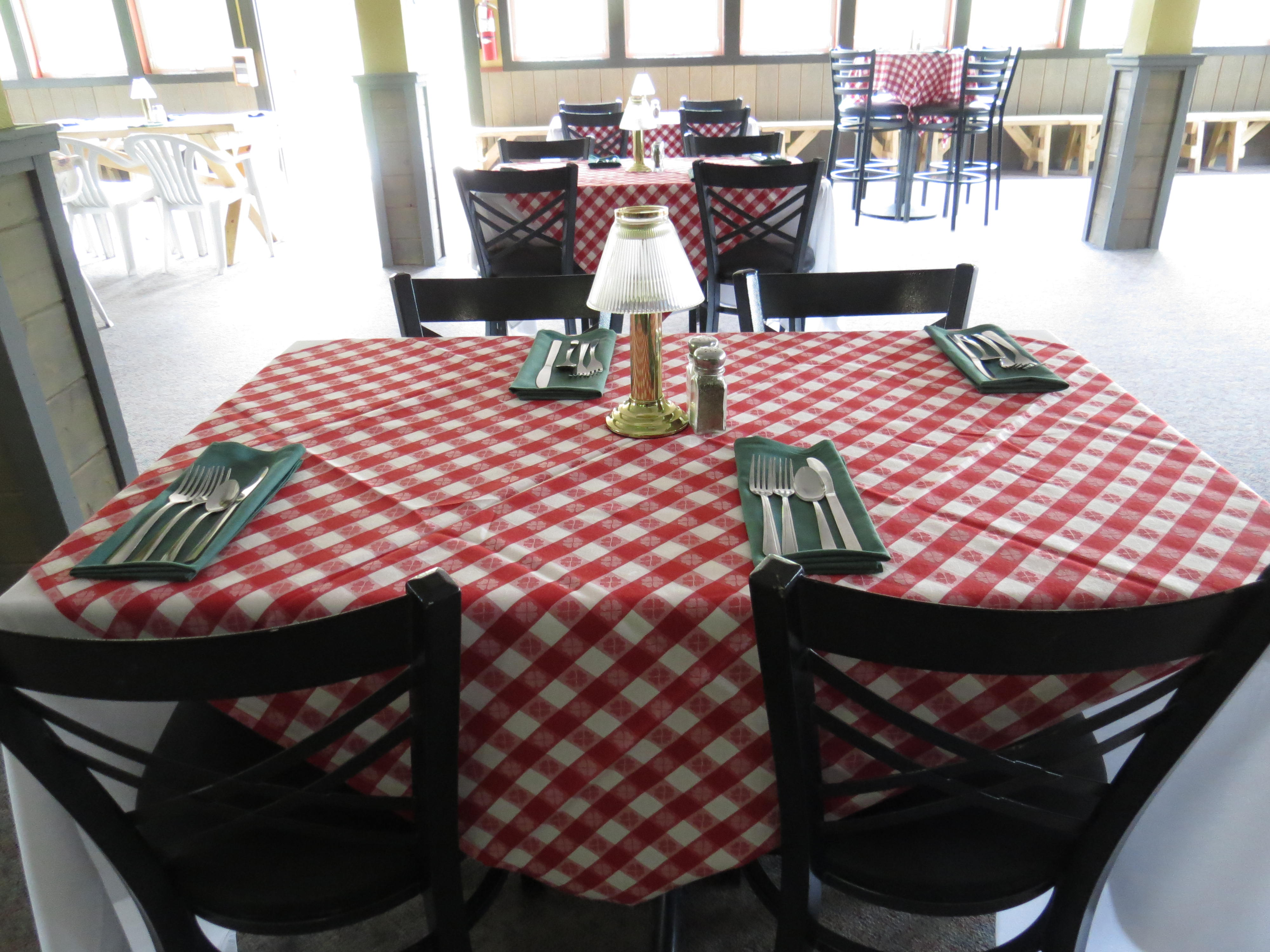 tables set for Italian Night