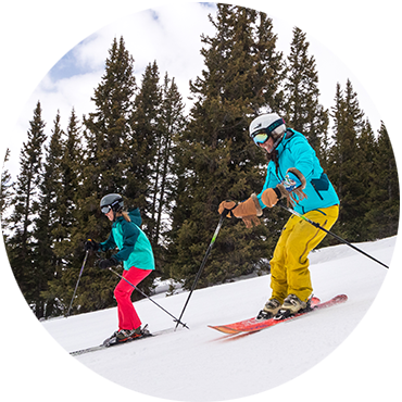 Two skiers