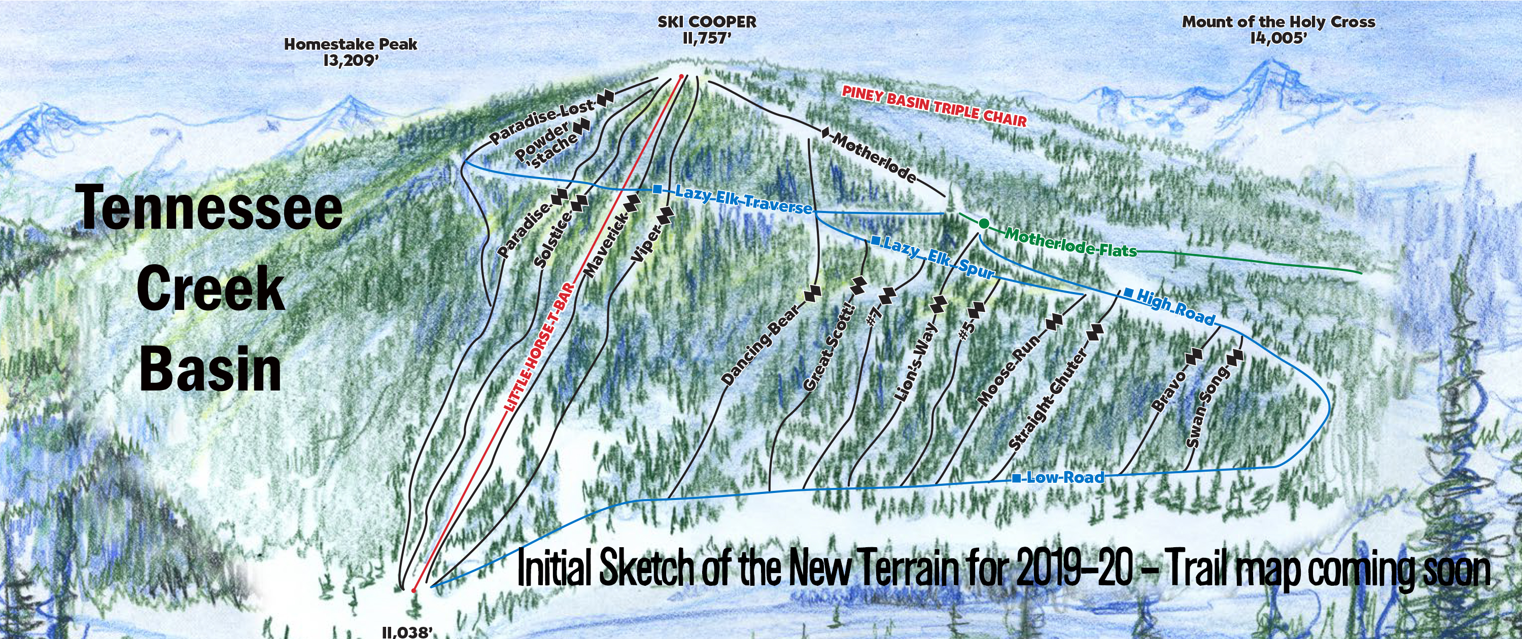 Sketch of the new terrain