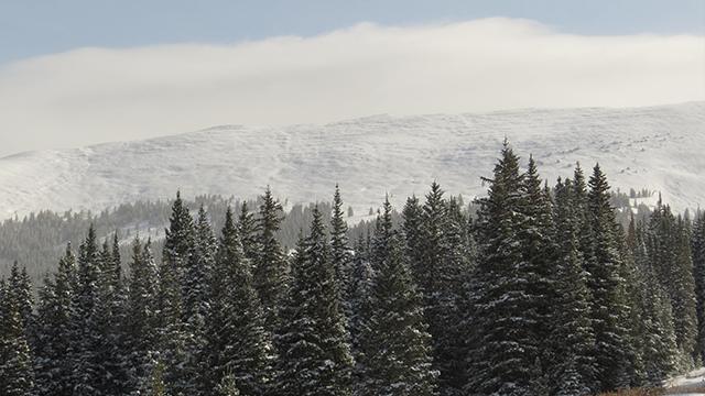 Chicago Ridge with snow