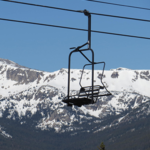 empty chairlift