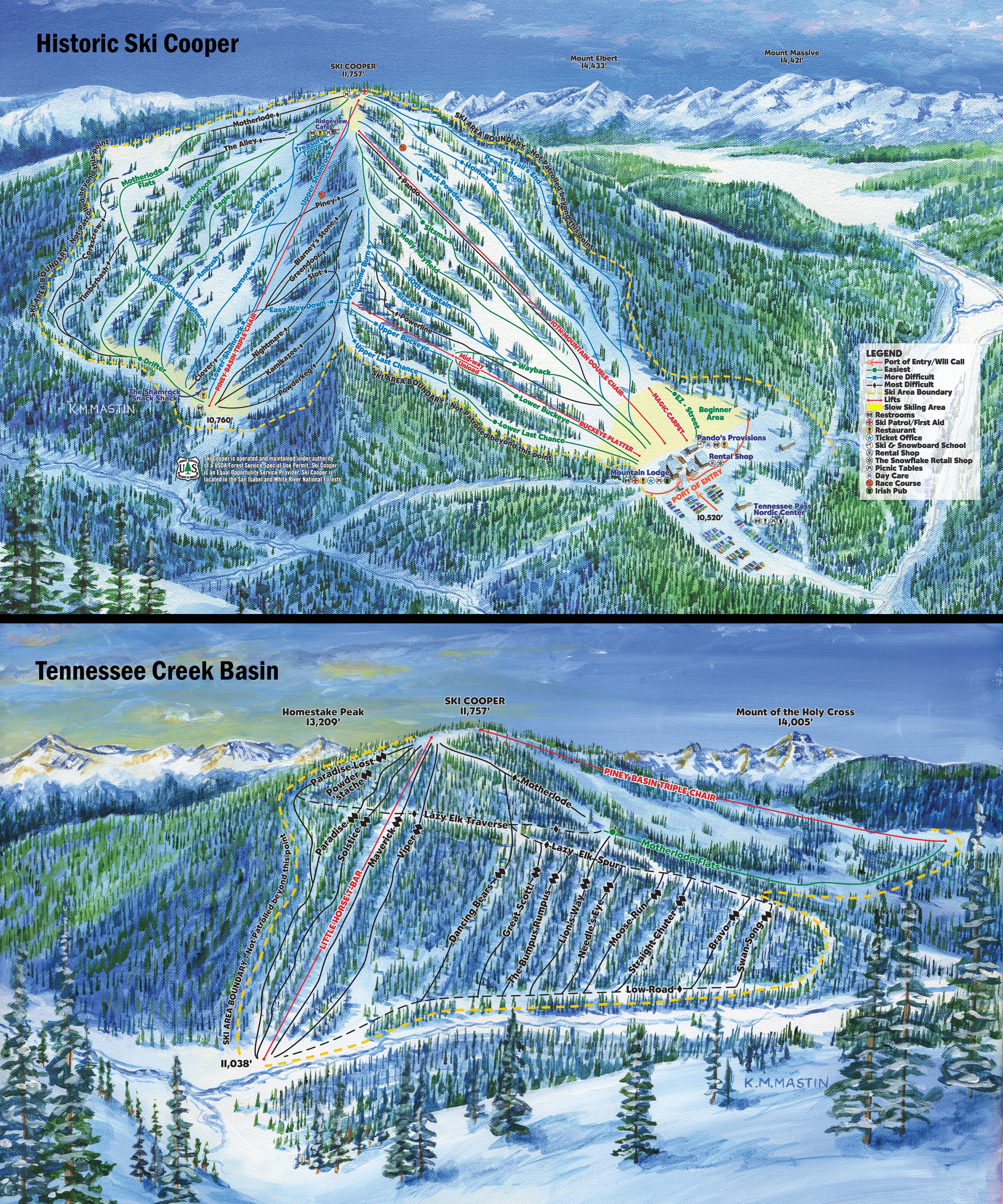 Cooper Trail maps