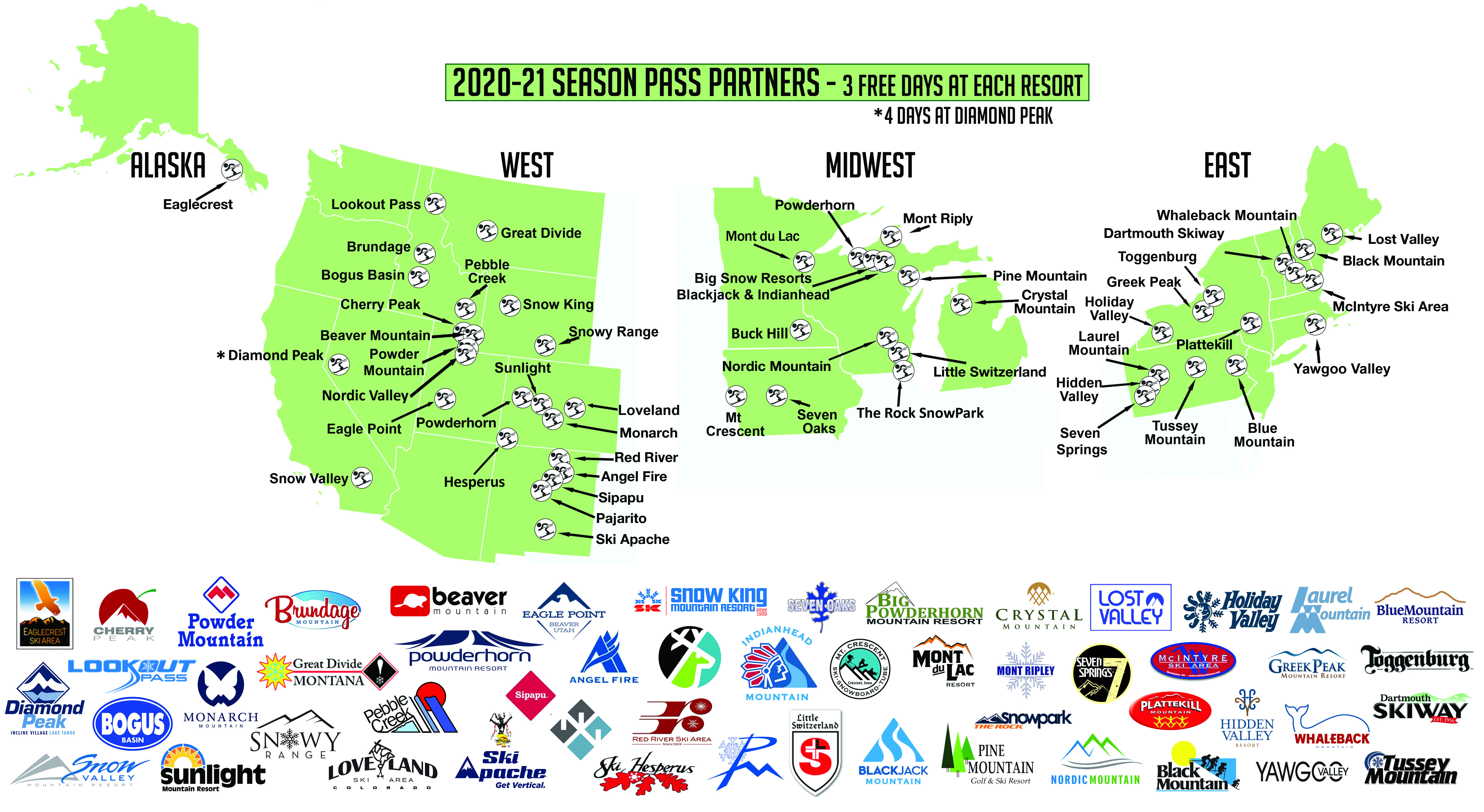 map of season pass partners